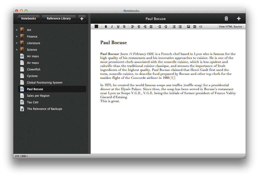 Notebooks for Mac: Work in Progress