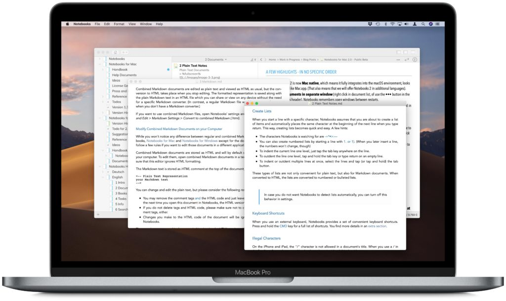 Notebooks for Mac 2 0 - Released on the Mac App Store