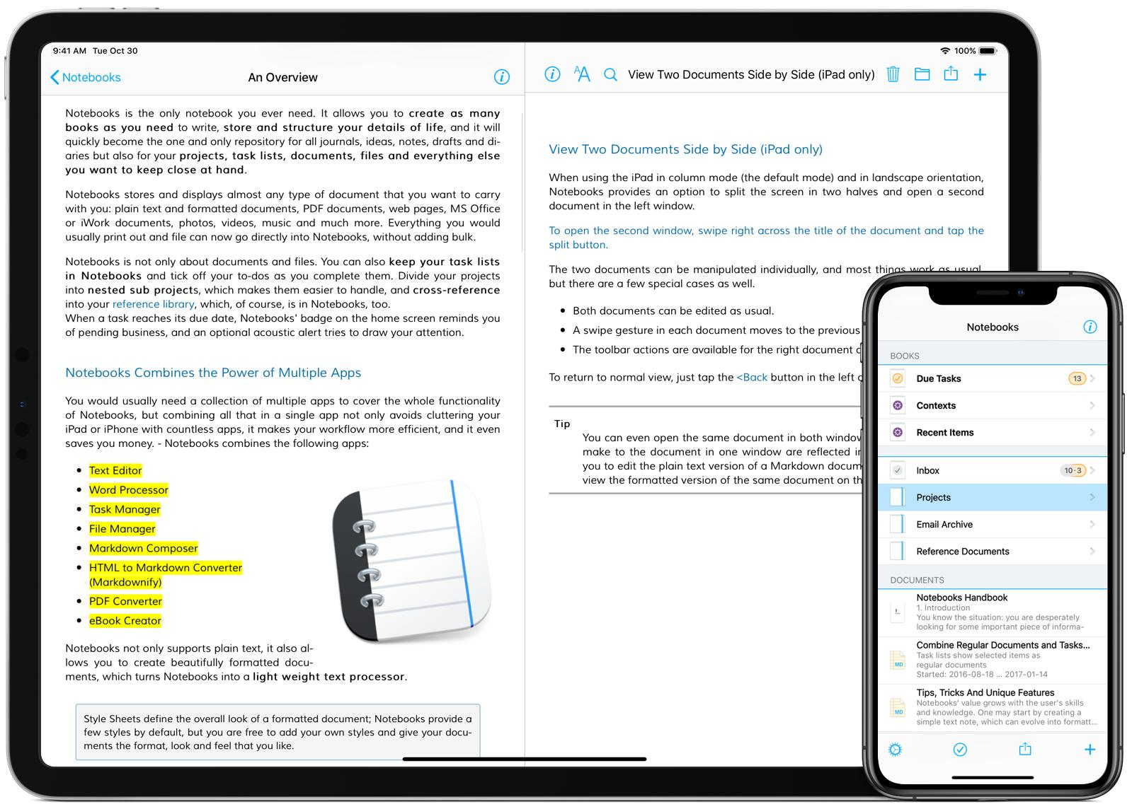 Notebooks for iPhone and iPad