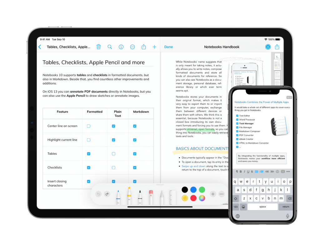 Notebooks for iOS