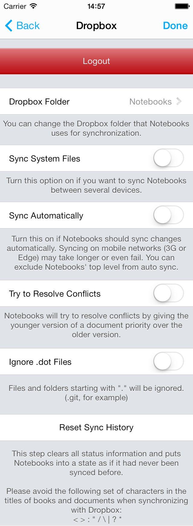 Synchronize Notebooks with Dropbox • Notebooks
