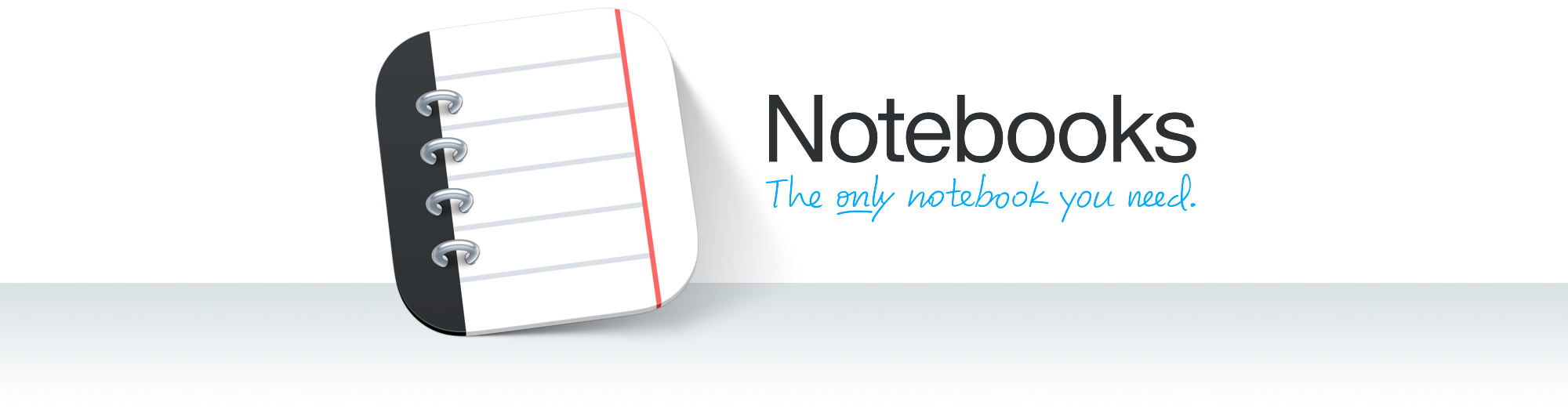 Notebooks, the only notebooks on you shelf